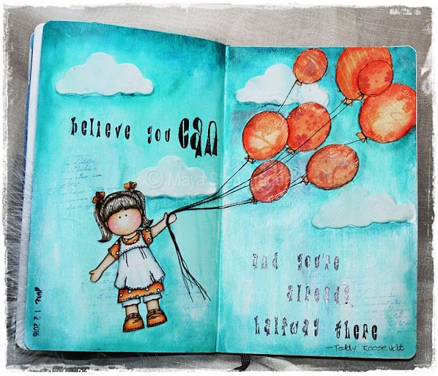 Mayas Hobbyblogg: Art Journal