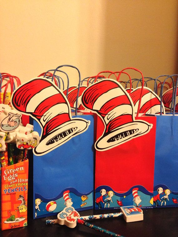 Dr seuss party bags  by YrsYpartydecor on Etsy, $25.00