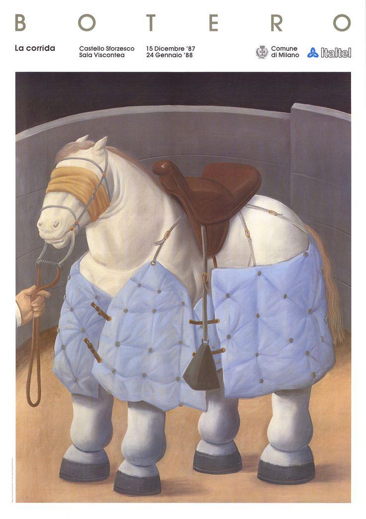 Fernando Botero-El caballo del Picador-1988 Poster | eBay