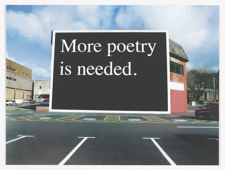 Jeremy Deller. More Poetry is Needed, Sansea, 2014 from Odds and Sods (for Parkett no. 95). 2014