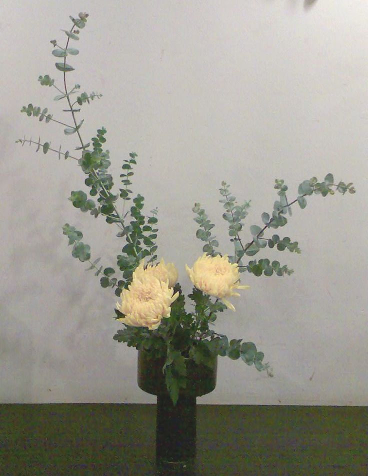 Ikebana Flower Arrangements Simple Freestyle Ikebana For