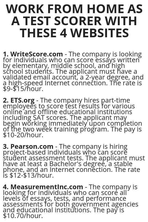 Work From Home As A Test Scorer With These 4 Websites Wisdom Lives Here