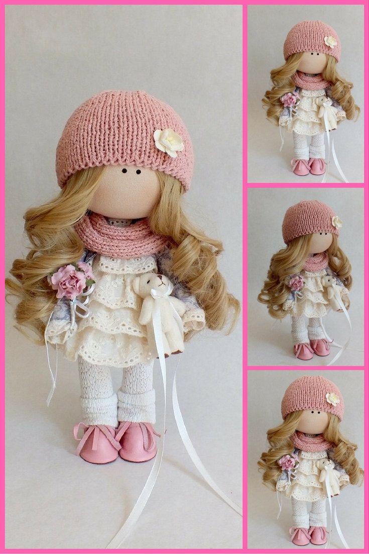 Interior doll Tilda doll Interior doll Fabric by AnnKirillartPlace