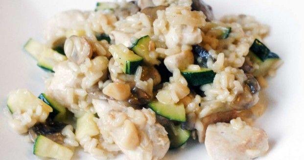 risotto_courgette_champignons_ui_kip+macademia_noten_recept_rijst_kaas
