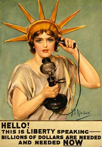 She's right! (Liberty Bonds poster, World War I)