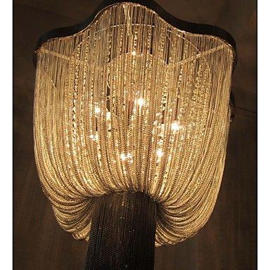 hanglampen 6 licht mode schilderij metalen aluminium 2015 – €657.39
