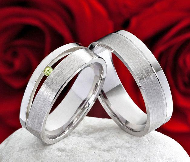 Eheringe - Eheringe Verlobungsringe Trauringe mit Peridot - ein Designerstück von Frencheis bei DaWanda