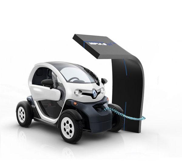 Borne de recharge électrique Impulsion on Behance interactive / movie / shopping / car / electricity / screen / services design / Mathieu Saulnier