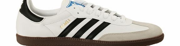 Adidas Samba White/Black Leather Trainers Adidas Samba White/Black Leather Trainers Colourway