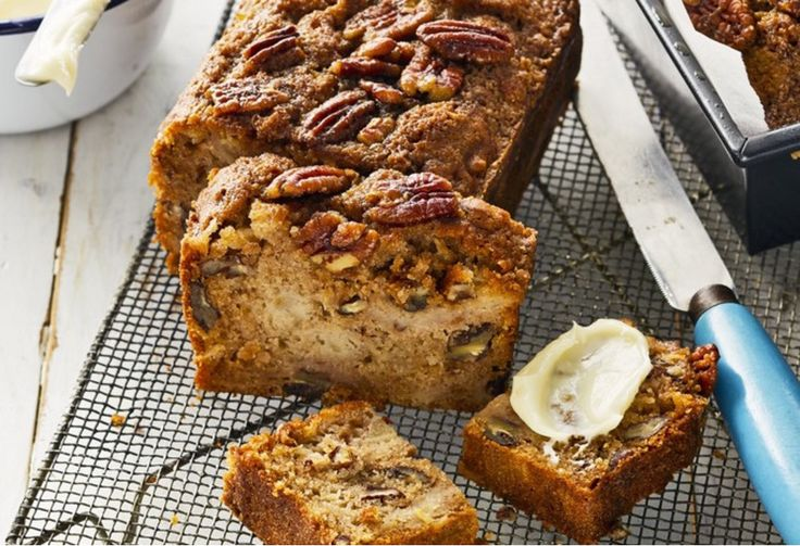 Go nuts over this delicious double-barrelled recipe that makes a loaf for guests and another to have to yourself.