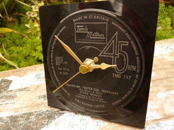 Tamla Motown Clock STEVIE WONDER  Recycled by WhenTheMusicsOver,