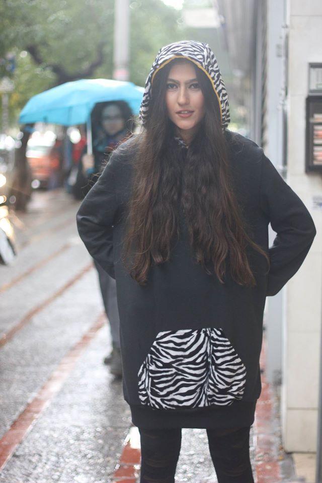 Yiota aka Pocahontas wearing the printed PCP hoodie #pcpclothing #pcphoodie