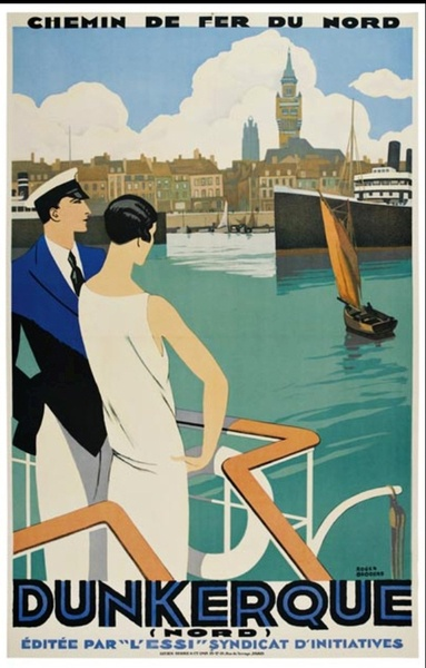 Affiche Duinkerke begin twintigste eeuw #Duinkerke #Frans Vlaanderen