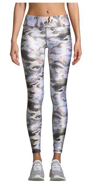 8cedac2281115 Terez Tall Band Metallic Camo-Print Leggings. #terez #leggings #activewear