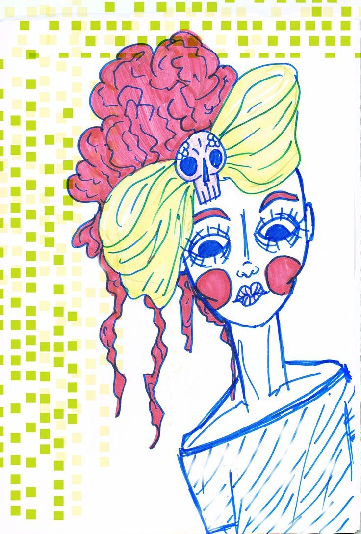 Maria Ruiva (sketch) - São Marias project - 2012, by Maria Oliveira.
