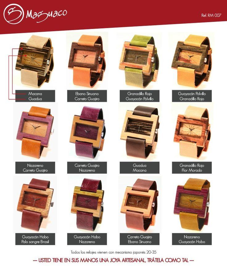 Relojes en Madera marca Maguaco RM007 $170.000