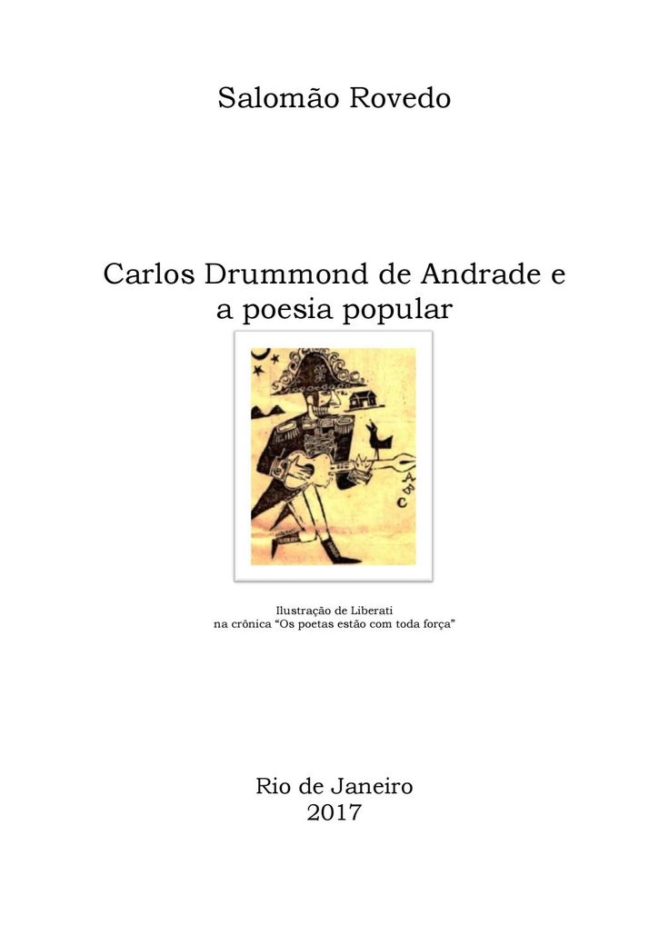 Carlos Drummond de Andrade e a poesia popular