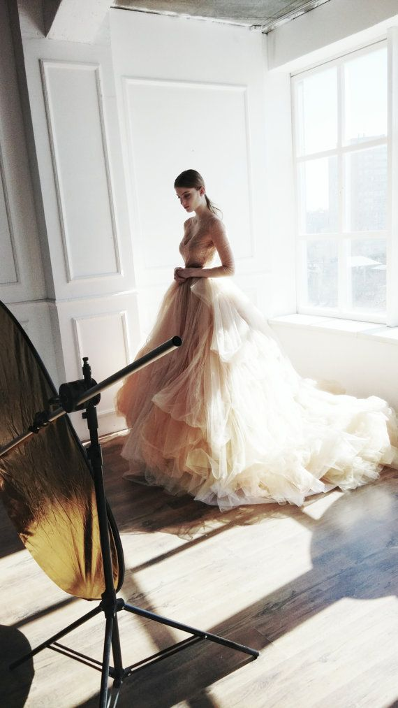 Hey, I found this really awesome Etsy listing at https://www.etsy.com/listing/240451010/nude-tulle-wedding-skirt-peony