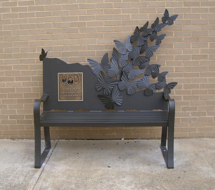 Butterfly Bench Wrought Iron Work Pinterest