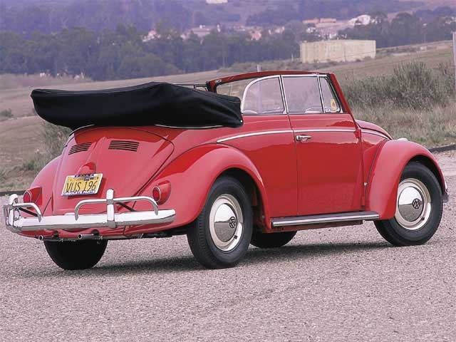 Sweet! Red VW Bug Convertible