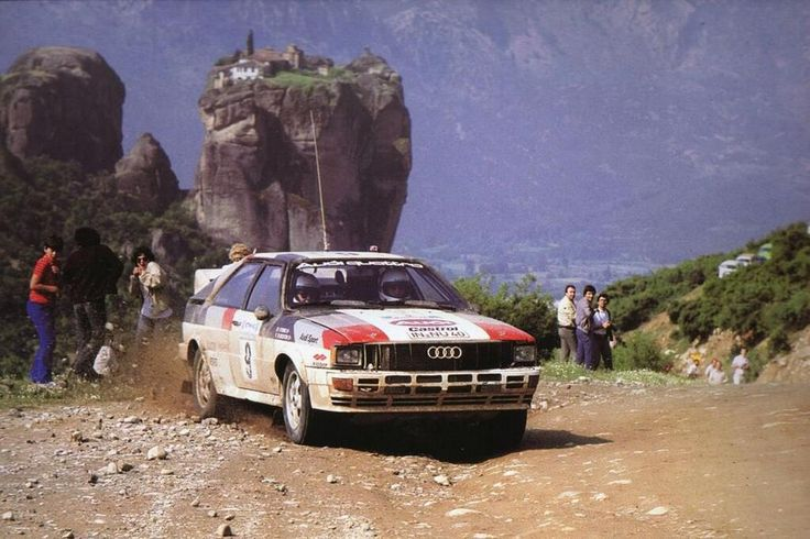 The 1982 Acropolis Rally saw Michelle Mouton(Audi Quattro) win with a huge 13 min gap over Walter Rohrl(Open Ascona)