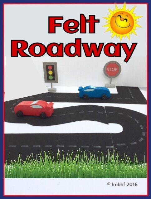 Make a toy roadway for the kids with this felt roadway pattern. They will love playing with this felt roadway and their toy cars!