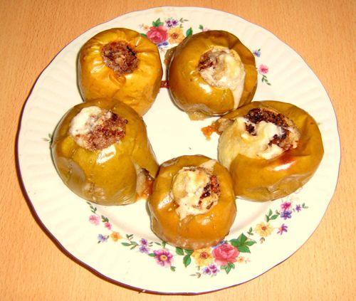 #Печеные_яблоки в духовке с медом и орехами. #Рецепт