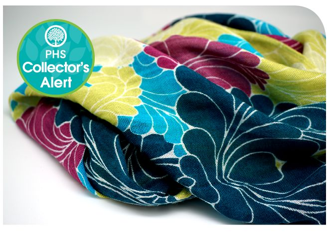 PHS's signature scarf is inspired by the Art Deco design of the Show's Entry Garden.