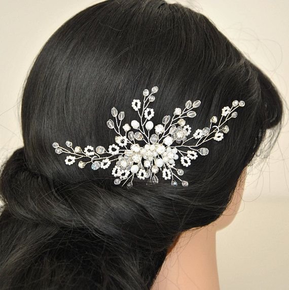 Check out this item in my Etsy shop https://www.etsy.com/listing/560964284/bridal-headpiece-wedding-hair-piece