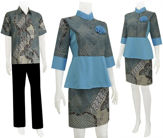 Baju Batik Dress Sarimbit Modern                                                                                                                                                     More