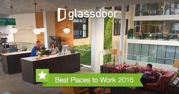 Glassdoor is excited to announce the Best Places to Work US 2016. Our Employees Choice Awards are selected by the people who know these companies the best - their employees.