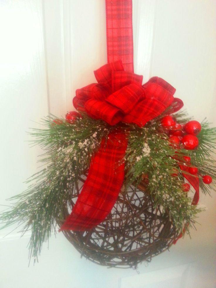 Christmas Grapevine Hanging Ball by ShadesOfTheSeasons on Etsy, $45.00