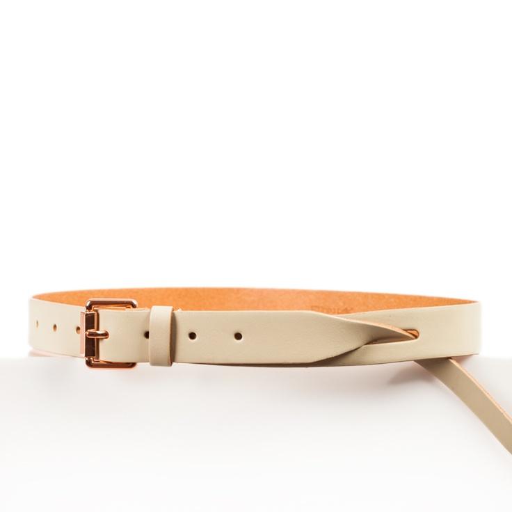 Linea Pelle Logan Waist Belt with Tip Pull Through $95