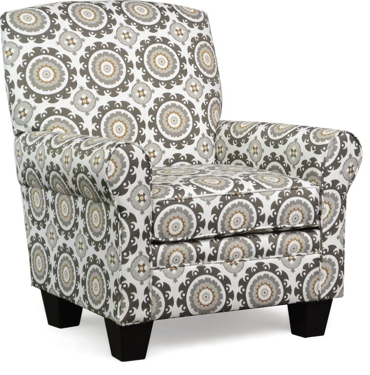"""Quinn Accent Chair in Ninja  Charcoal.   Transitional Style, Round Arms, Tight Back Cushion, Removable Seat Cushion  $299.00  33.50""""W x 33.00""""D x 35.50""""H  PFI 400"""