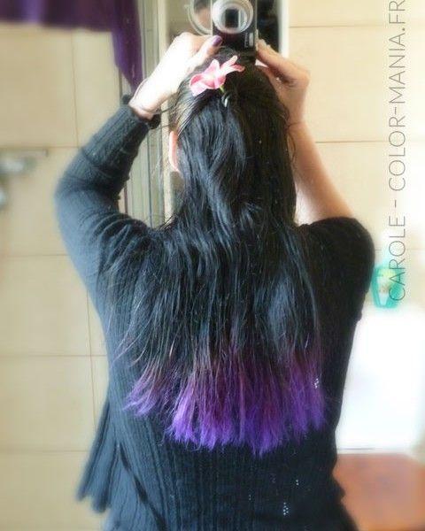 carole coloration cheveux violet directions color mania - Dcoloration Cheveux Colors
