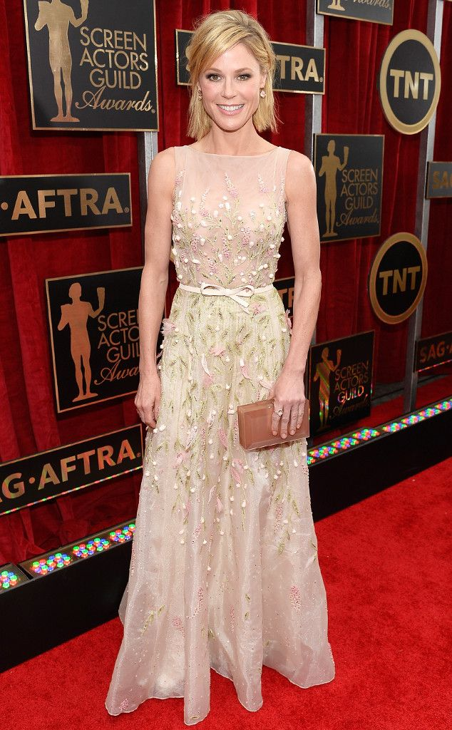 Julie Bowen from Best Dressed at the 2015 SAG Awards  The Modern Family star was anything but a wall flower in this stunning Georges Hobeika gown.