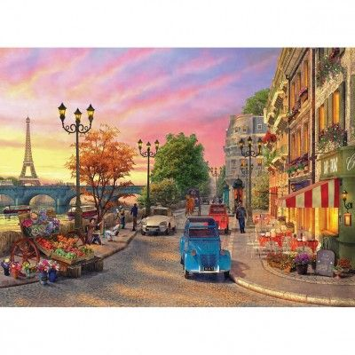 Puzzle 1000 pièces : Bord de Seine à Paris - Anatolian-ANA1004