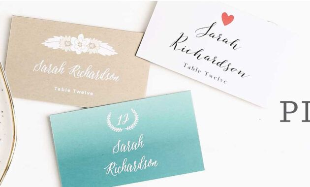 034 Wedding Place Cards Name Template Marvelous Ideas Pertaining To Place Card Settin In 2020 Wedding Place Card Templates Place Card Template Wedding Table Name Cards