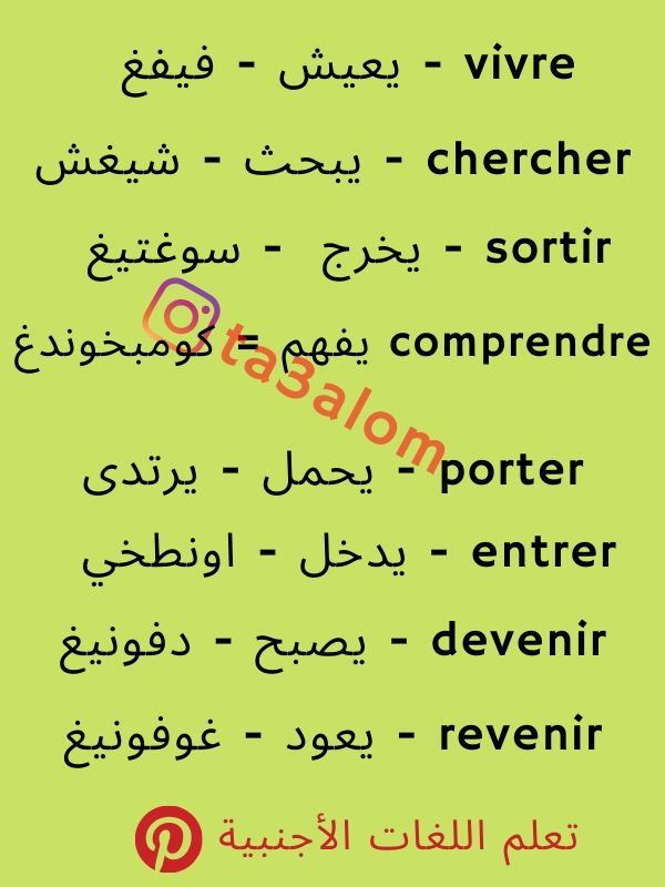 تعلم اللغة الفرنسية للأطفال English Language Learning English Language Language