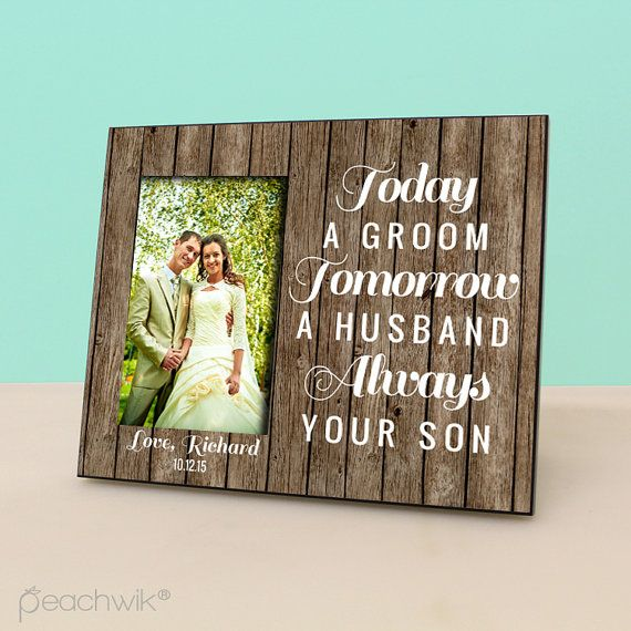 Mother of The Groom Gift Today a Groom Tomorrow by PeachwikDecor