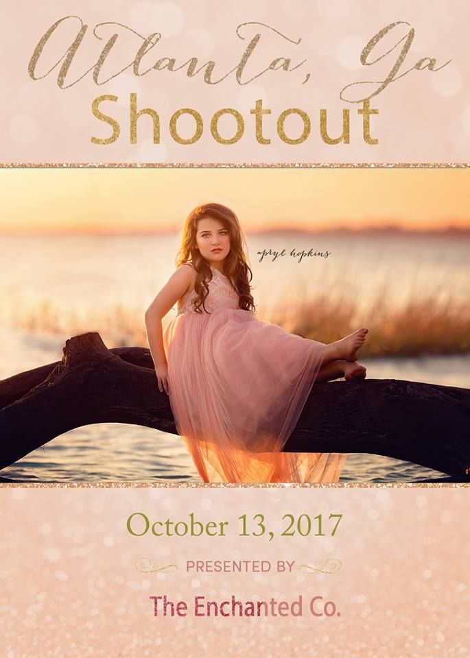 For the very first time, we are hosting a shootout in Atlanta, Georgia!We will have the prettiest models in the South, coming with beautiful couture gowns, to a magical location!The shootout will be the evening of October 13, 2017, just outside the city. We will be shooting during golden hour! This even is non refundable, in the event of inclement weather we will reschedule, or you may use your fee towards products. This is a very limited shoot, with only a handful of sp...