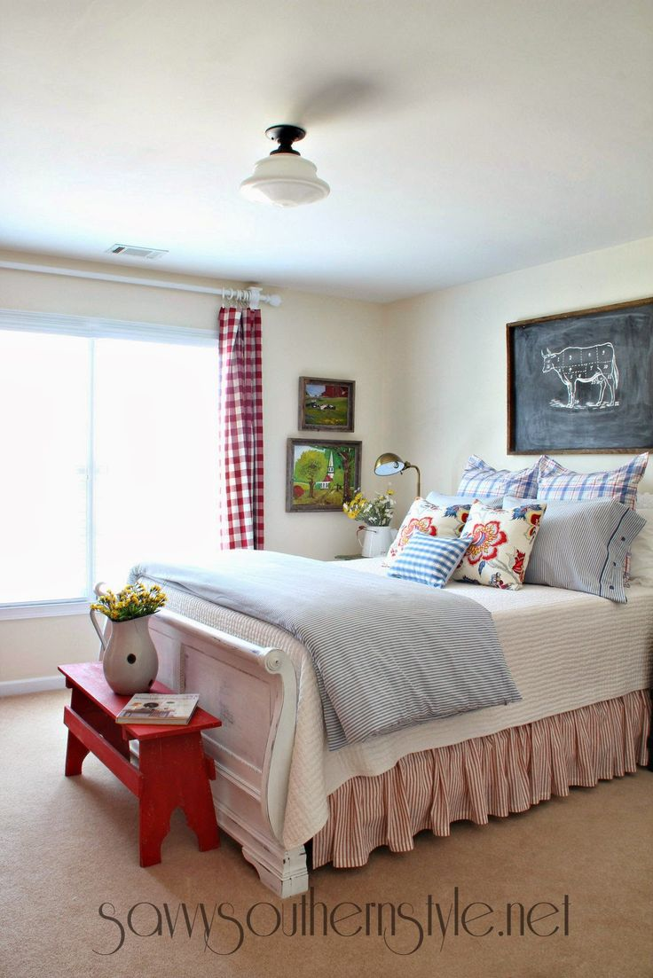 Farmhouse style guestroom spring 2014 savvy southern for Southern style bedroom
