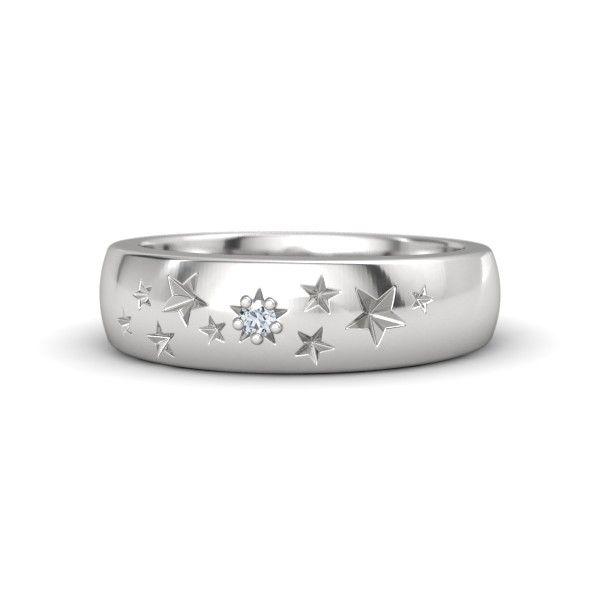 Sterling Silver Ring with Diamond | Supernova Band | Gemvara