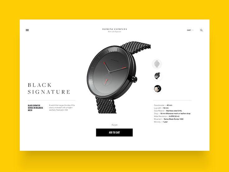 Domenico product page by Mario Šestak
