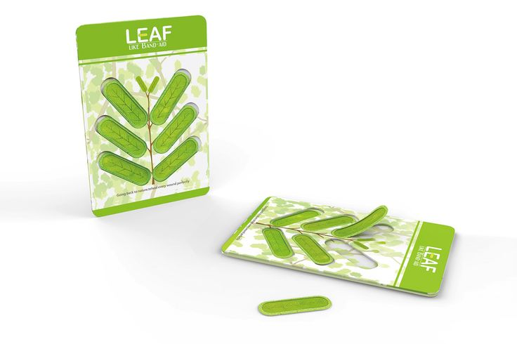 Throw out your icky flesh-colored band-aids! The Leaf-band-aid is a functionally and aesthetically superior alternative that looks and works better than any band-aid before it! It's
