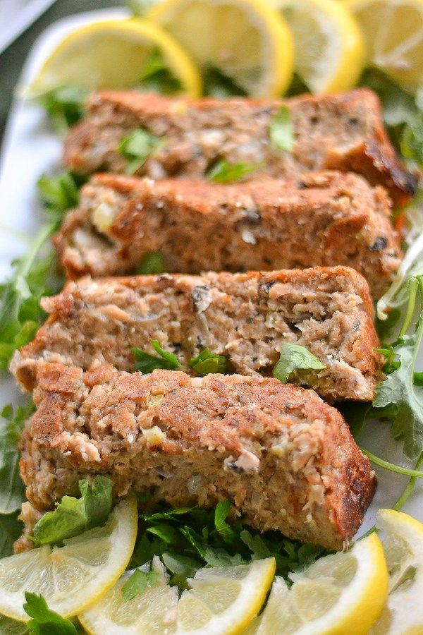 This salmon loaf recipe is just like the classic meat loaf. It uses mushroom soup which makes the dish a delicious and moist one.