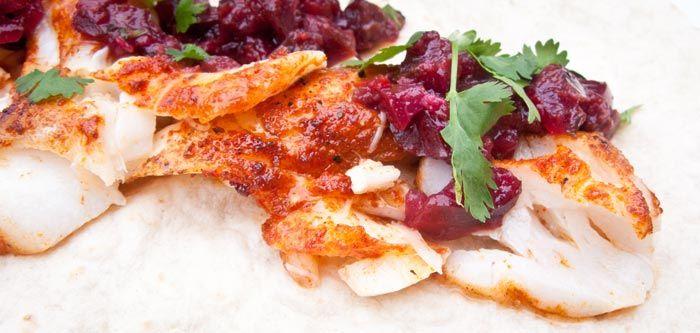 Chili-vis-tortilla-met-gegrilde-kersen-salsa feature