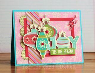 Joy Card by Amy Sheffer - for the November Card Kitchen Kit via the Card Kitchen Kit Club blog