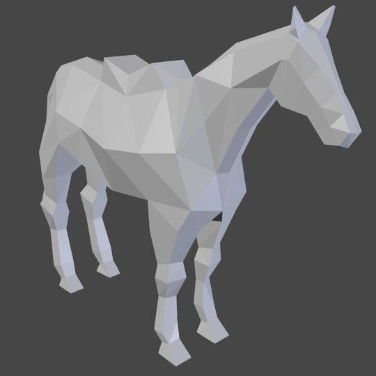 low poly horse - Google Search