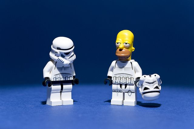 D'oh! by Andy Wells / [inFocus] on Flickr | LEGO Star Wars Stormtrooper / Homer Simpson Mash-up Minifig